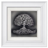 Tree of Life — Framed Hand-Carved Fine Art Glass
