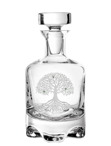 Tree of Life Footed Decanter