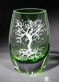 Dream Tree Green Teardrop Vase