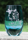 Sweet Surprises Hummingbird Color Teardrop Vase