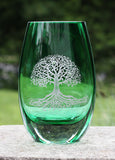 Tree of Life Color Teardrop Vase