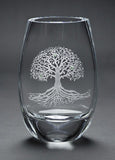 Tree of Life Teardrop Vase