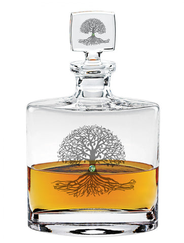 Tree of Life Flask Decanter