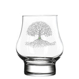 Tree of Life Modern Whiskey Glass