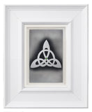 Trinity Knot — Framed Hand-Carved Fine Art Glass