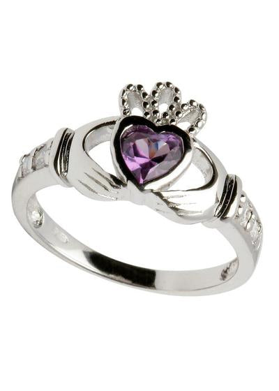 ShanOre Claddagh birthstone ring