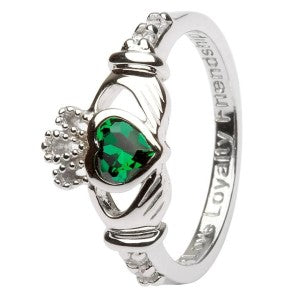 ShanOre birthstone Claddagh ring