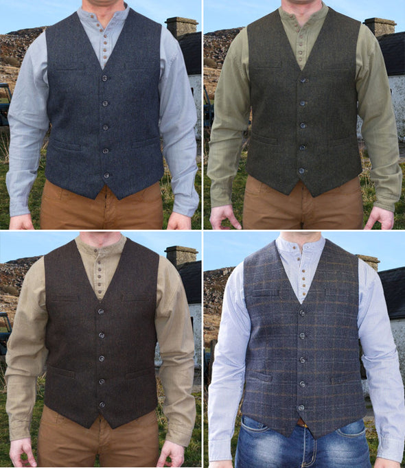 mens irish vests