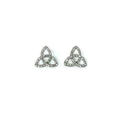 Silver Tone Trinity Earrings