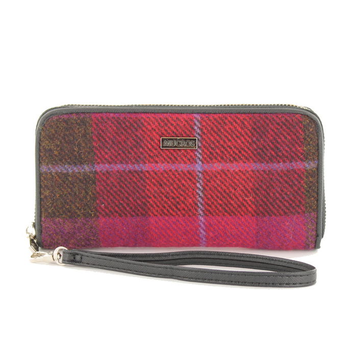 front of tweed wallet color 223 by mucros weavers