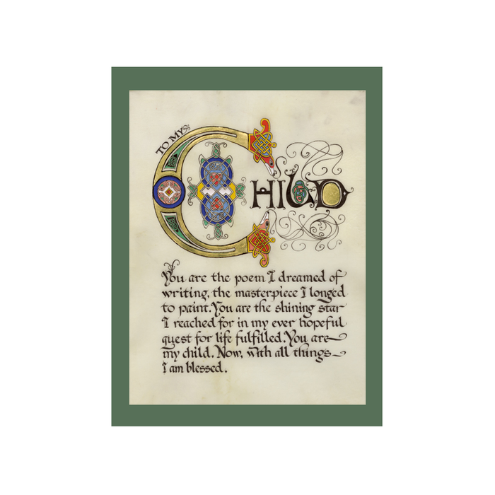 "Double Matted Green 8"" x 10"" Celtic Cards"