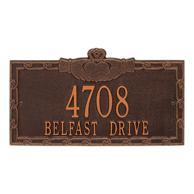 Personalized Claddagh Address Plaque