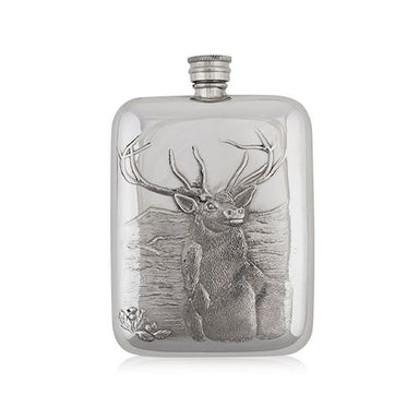 whiskey stag hip flask by a e williams