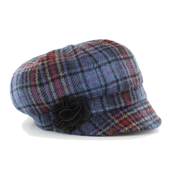 irish caps and hats / color 801-3 purple pink multi plaid