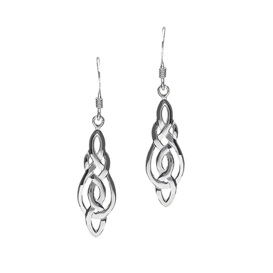 sterling silver celtic teardrop earrings by anu