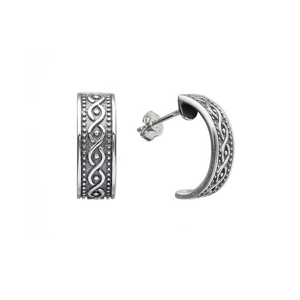 Sterling Silver Atlantic Weave Earrings