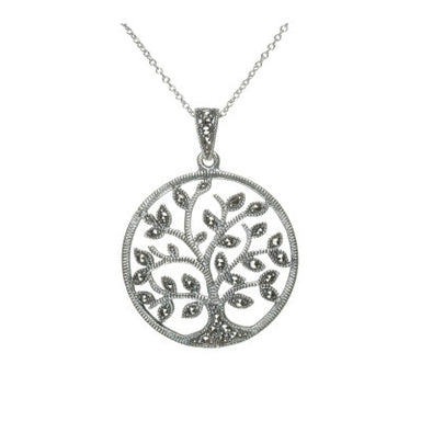 small marcasite tree of life pendant by anu celtic jewellery