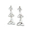 polished triple trinity knot earrings by because i like it