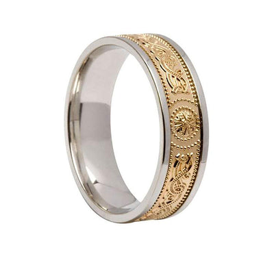 celtic ladies signature shield band ring by boru