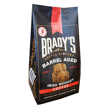 Bradys Coffee Barrel aged Whiskey Bag Whole Bean