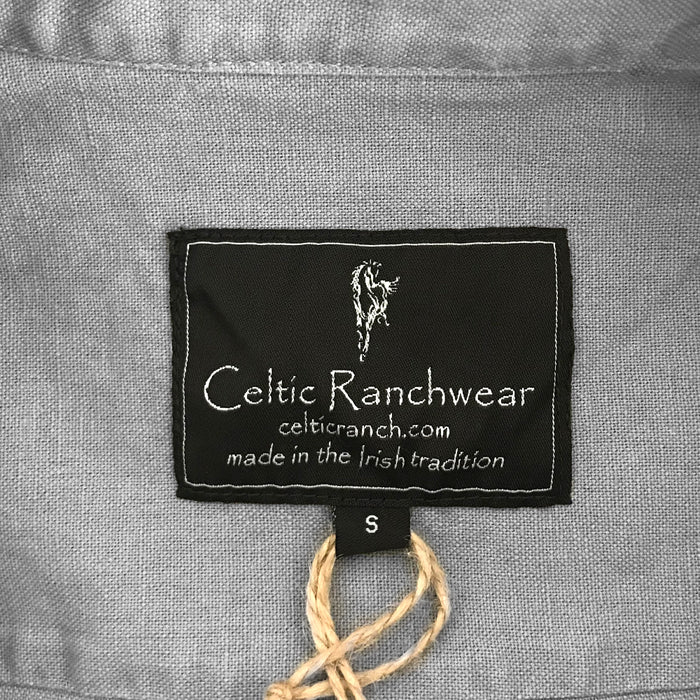 label of ash gray grandfather shirt by celtic ranch