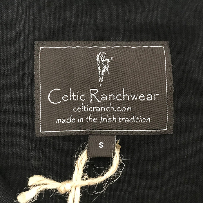 label of meterorite black grandfather shirt by celtic ranch