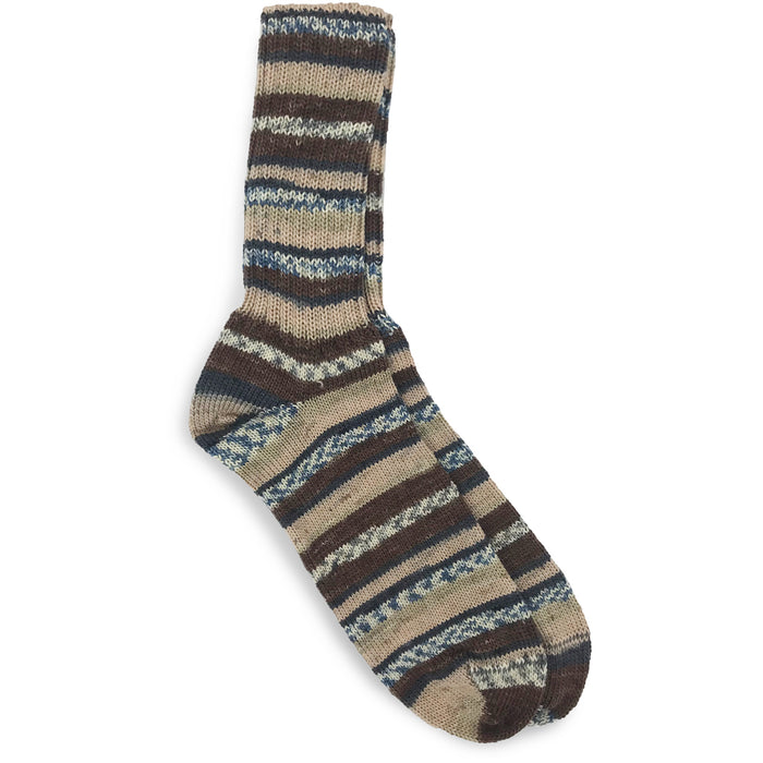 toffee mix fair isle socks by grange crafts