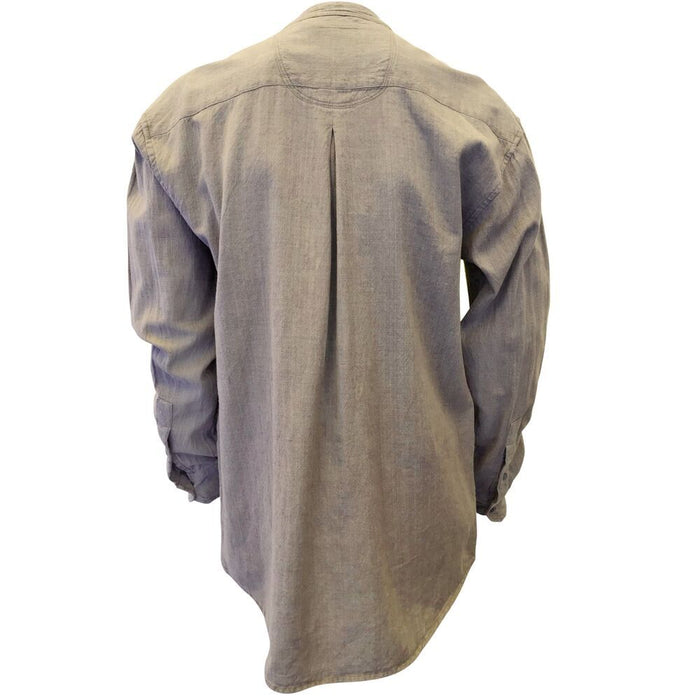 back of light grey grandfather shirt by civilian