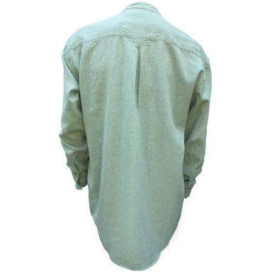 back of smoke green irish grandfather shirt by civilian