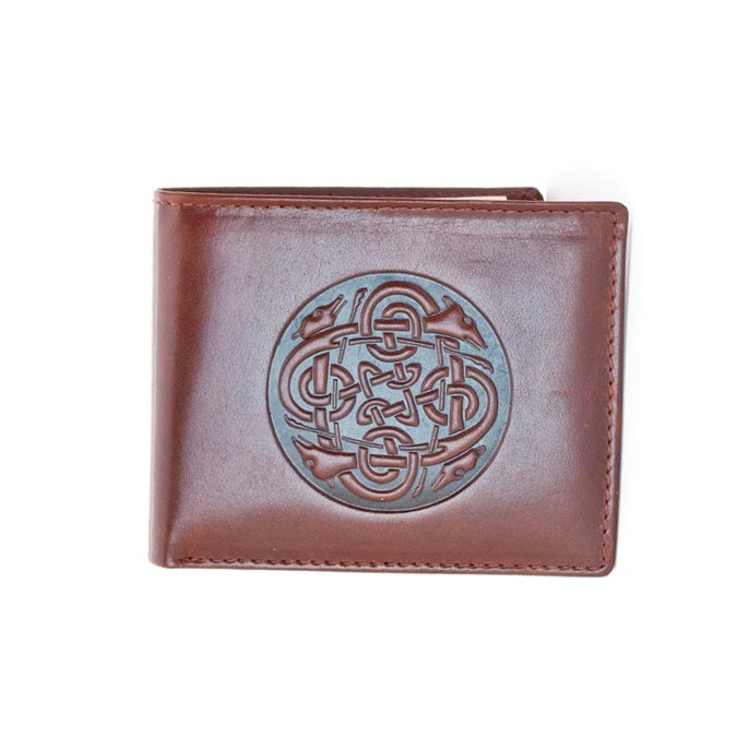 brown cuchulainn bi-fold wallet by lee river