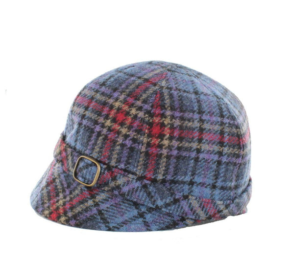 flapper hats for sale / color 801-3 purple pink plaid