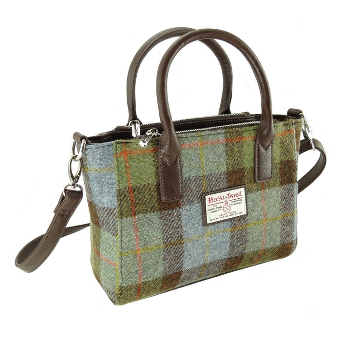brora harris tweed small tote bag style 15 by glen appin