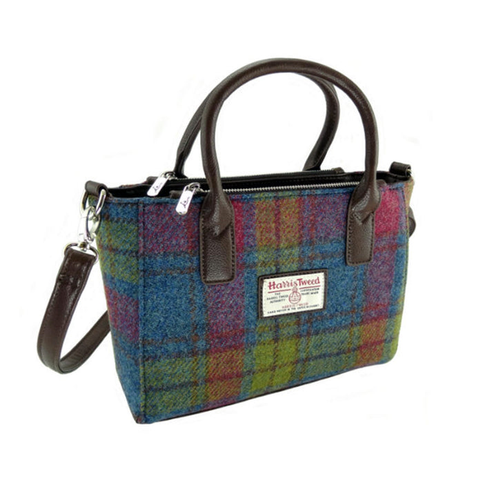 brora harris tweed small tote bag style 46 by glen appin