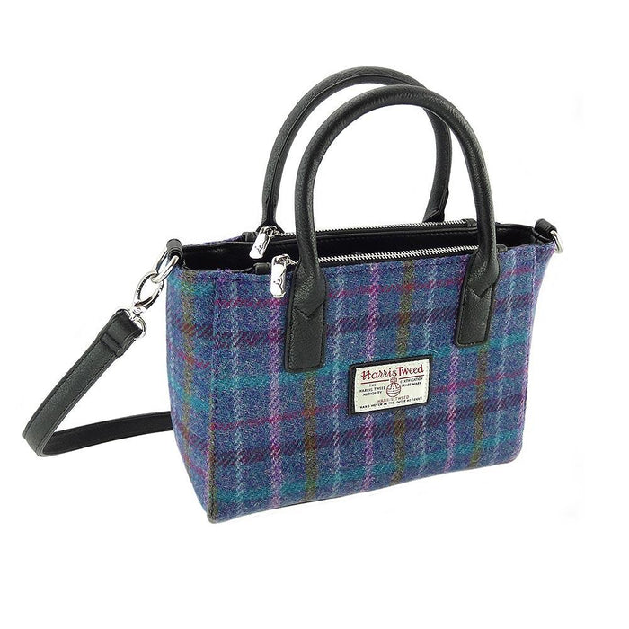 brora harris tweed small tote bag style 51 by glen appin