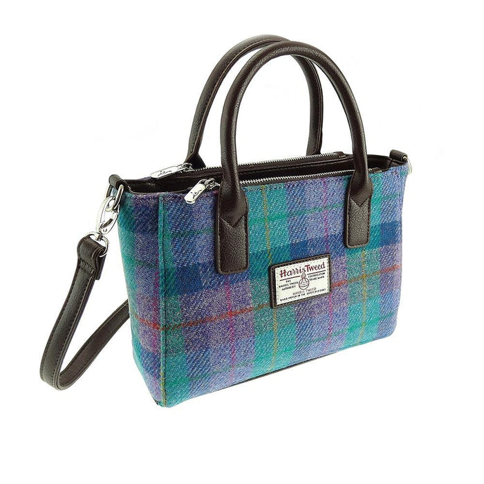brora harris tweed small tote bag style 79 by glen appin