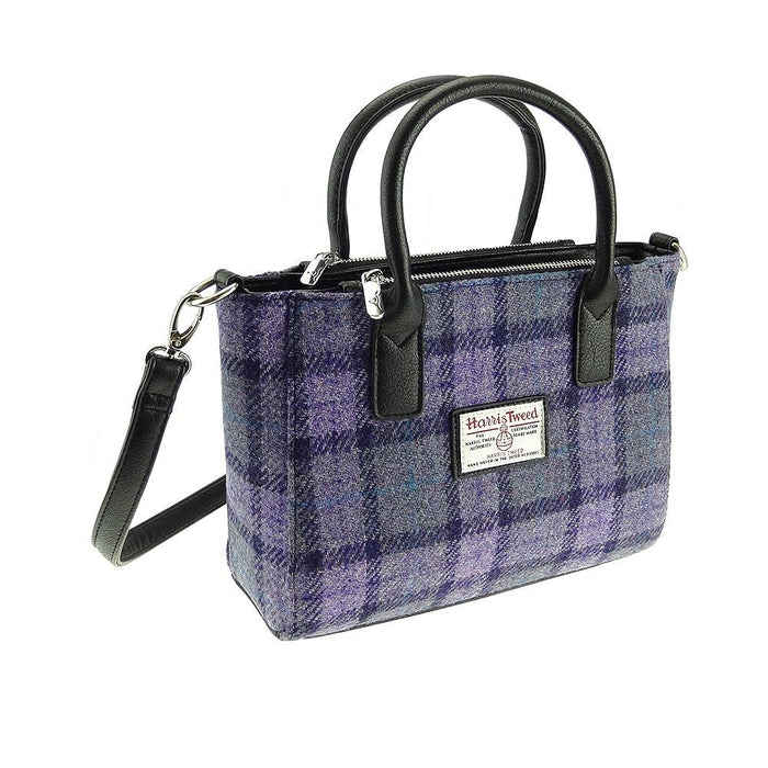 brora harris tweed small tote bag style 89 by glen appin