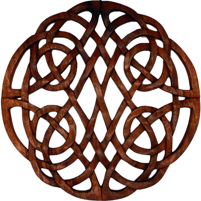 Hand Carved Round Knot