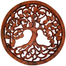 Hand Carved Large Round Tree of Life