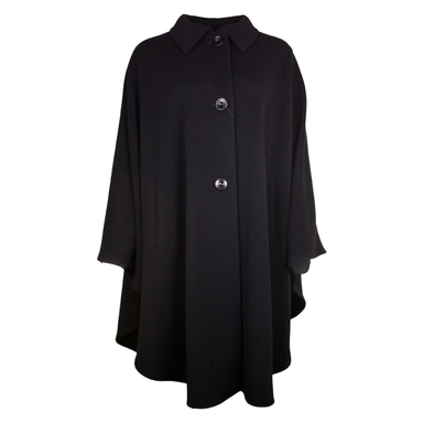 front of black jimmy hourihan pure new wool and cashmere cape