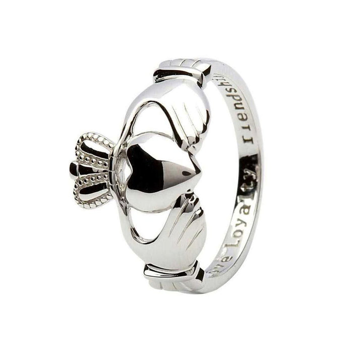 Silver Sterling Silver Claddagh Ring