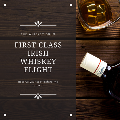 Irish Whiskey First Class Flight
