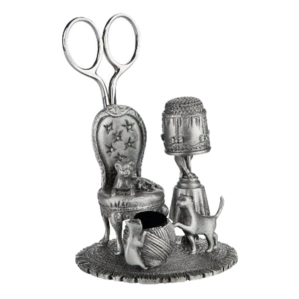 cats at home pewter sewing station by a e williams