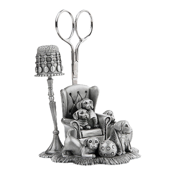 puppy pewter sewing station by a e williams