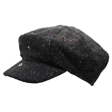 Hanna Abbey Tweed Cap with Extended Bill