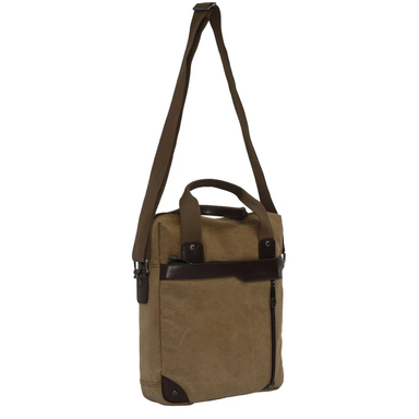 front of 14.5 inch canvas messenger by accorda international