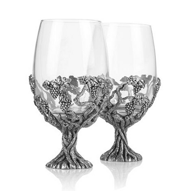 grape vine wine glass set by a e williams