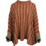 rust basket weave sweater poncho by aine knitwear