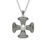 sterling silver donegal cross with pearl center necklace by anu celtic jewellery