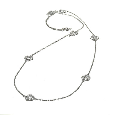 sterling silver infinity knot necklet on a 24 inch chain by anu celtic jewellery