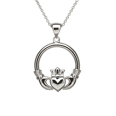 sterling silver sweetheart claddagh pendant necklace by anu celtic jewellery